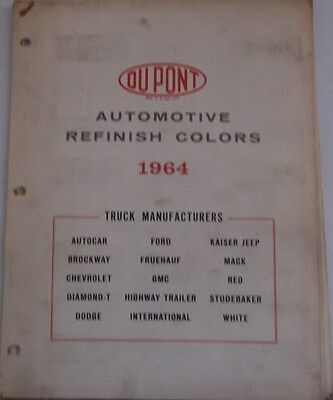 1964 Color Chips Dupont Truck Chevrolet Ford Dodge Jeep GMC Mack REO