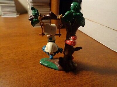 Smurfs Trapeze Tree Swing Super Smurf Rare Vintage Figure Toy Lot Figurine 1983