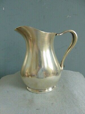 Vintage Wwii United States Navy Silver Plated Cream Pitcher - Reed & Barton