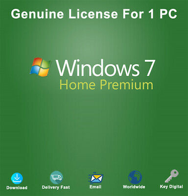 Windows 7 Home Premium 32/64 Bit Product Key Genuine