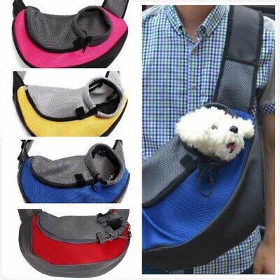 Pet Cat Dog Carrier Backpack Puppy Sling Front Carrier Mesh Travel Shoulder Bag