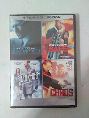 JASON STATHAM 4 FILM COLLECTION (DVD, 2016) Redemption, Safe, Bank Job, Chaos