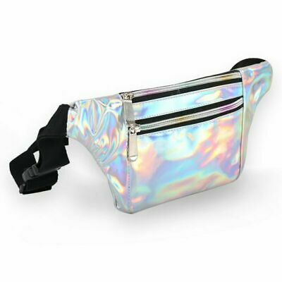 Silver Fanny Pack for Women Men Waterproof Made of Durable & Soft PVC PERFECT