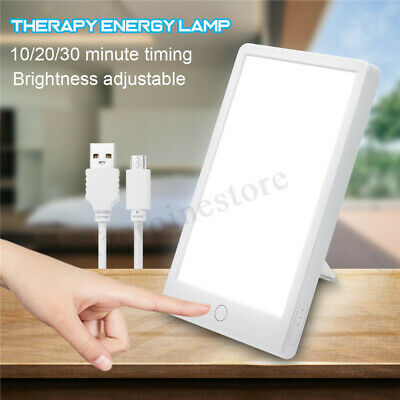 Day Light Therapy Energy Lamp 10000 Lux Full Spectrum Bright Light White LED  !
