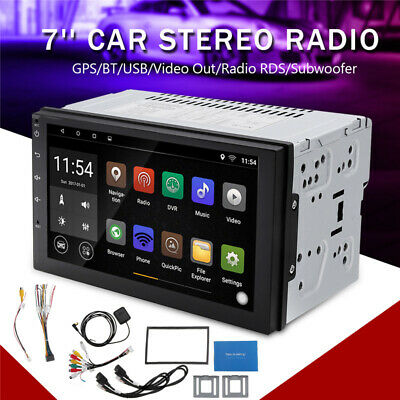 7'' Android 8.1 WiFi 2DIN Car Radio Stereo GPS Mul-media MP5 Player Touch