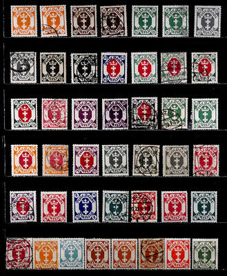 Danzig: 1921 - 23 Classic Era Stamp Collection Many Unused