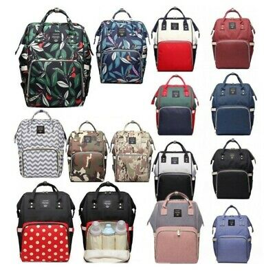Baby Diaper Nappy Changing Mummy Bag Large Rucksack Hospital Maternity Backpack