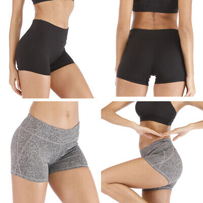 89df78858c Womens Girl Gym Yoga Shorts Sports Fitness Running Stretch High Waist Hot  Pants