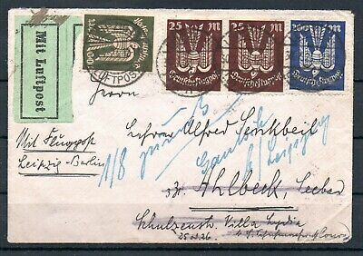GERMANY , DEUTSCHES REICH , 1923 , very nice AIRMAIL cover withh 200 M. PIGEON !