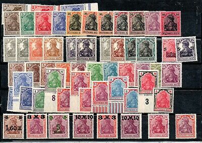 GERMANY , DEUTSCHES REICH , 1915 - 1920  , GERMANIA , very nice stamps , ALL MNH