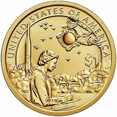"Usa Sacagawea Us Native American Dollar 2019 Space Program ""d"" Coin Unc"