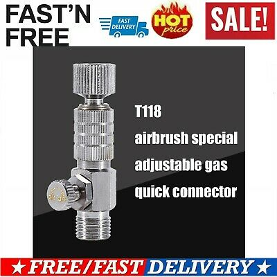 """1pc Airbrush Quick Release Disconnect 1/8"""" Plug Adapter Kit Fitting Air Hose"""