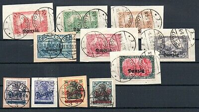 GERMANY , DANZIG , 1920 , nice lot of better stamps , used