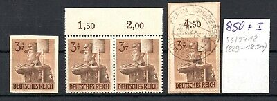 GERMANY , DEUTSCHES REICH , 1943 , IMPERFORATE STAMP and two platefaults , LOOK