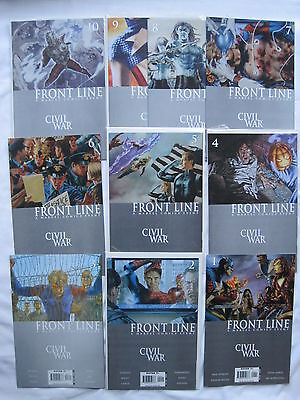 CIVIL WAR : FRONT LINE : COMPLETE 11 ISSUE 2006 Marvel SERIES by JENKINS & BACHS