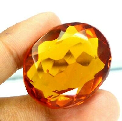 95.80 Ct Certified Brazilian Yellow Citrine Fabulous Oval Shape Gemstone CF1653
