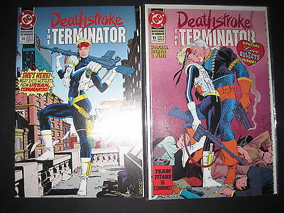 """DEATHSTROKE #s 10,11 :COMPLETE """"The LONELIEST NUMBER"""" STORY. ARROW TV. DC 1992"""