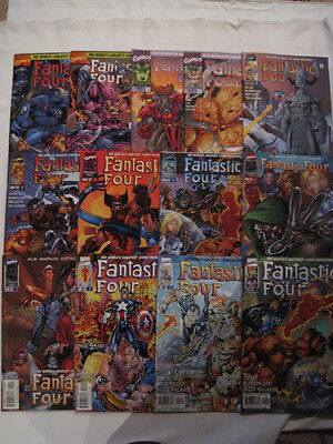 FANTASTIC FOUR : COMPLETE 13 ISSUE MARVEL 1996 SERIES by JIM LEE & CHOI. 1,2,3,4