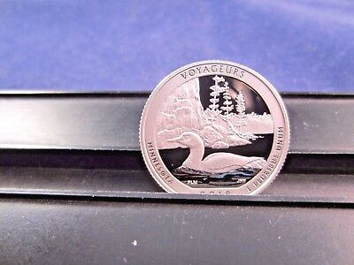 2018 S SILVER Quarter VOYAGEURS  PARK MN Deep Cameo Mirror Proof Grade IN STOCK