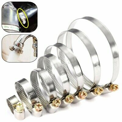 Stainless Steel Hose Tube Fuel Clips Pipe Clamps Jubilee Type 8mm-80mm  Gift