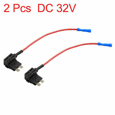 2pcs DC 32V 16 AWG Car ATM APM Blade Style Add-A-Circuit Fuse TAP Adapter Holder