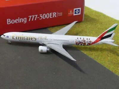 "530880  Emirates Boeing 777-300ER /""Hamburger SV/"" A6-EPS Herpa Wings 1:500 *"
