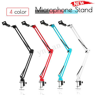 Desk Microphone Metal Suspension Boom Scissor Arm Stand Shock Mount