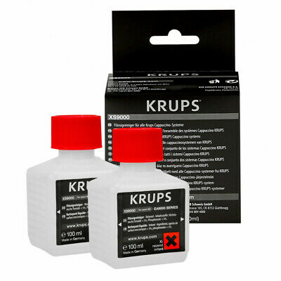 Genuine KRUPS XS9000 for cappuccino milk systems - liquid cleaner - 2 x 100ml
