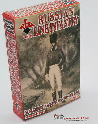 RedBox 72131 Napoleonic Russian Line Infantry Musketeers 1805-1808. 1/72 scale.