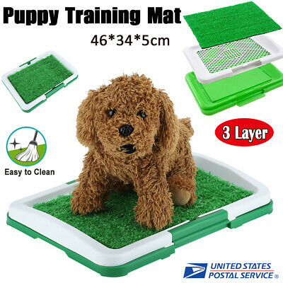 Pet Potty Trainer Grass Mat Dog Cat Indoor Outdoor Home Training Pee Patch Pads