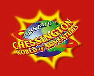 2 x  CHESSINGTON WORLD OF ADVENTURES TICKETS FOR TUE 23RD  APRIL