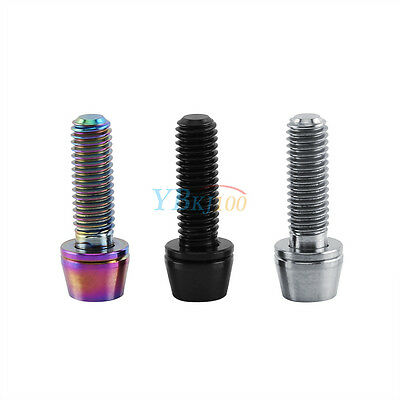 M6 16/20mm Ti Titane Alliage Vis Tête Hex Tapered Head Screw Vélo Moto Bike