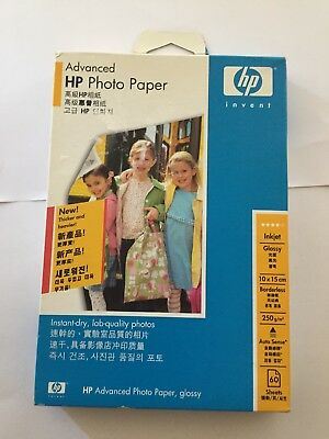 HP Advanced Glossy Photo Paper 60 sheets 250 gm/m2 60 sheets BRAND NEW