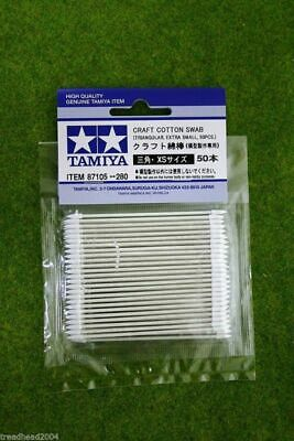 Tamiya  CRAFT COTTON SWAB, Triang. Ex Small (50 pcs) Modelling Accessories 87105