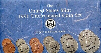 1991- P & D United States Mint Uncirculated Coin Set BC540