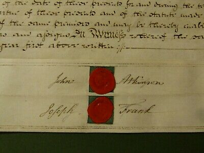 1821 Lease Indenture STOCKTON ON TEES Family History Research  #S23