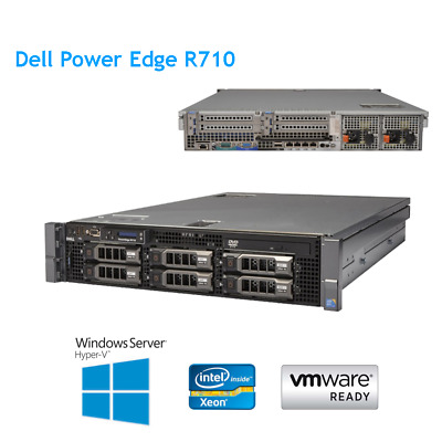DELL POWEREDGE R710 2 x X5660 2 80GHz 6 core 64 GB of RAM H700 Raid