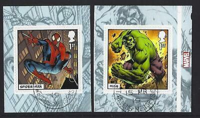Great Britain 2019 Marvel Self Adhesive Pair Ex.  Booklet  Fine Used