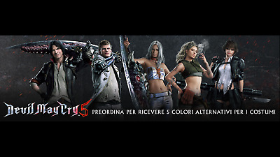 Devil May Cry 5 Preorder Dlc Code 5 Alternate Colour Costumes Ps4 No Game