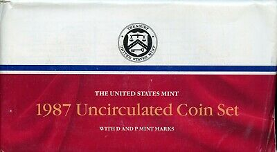 1987-P&D United States Mint Uncirculated Coin Set BC620