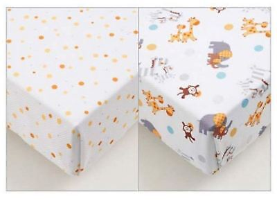 Breathable Baby SUPER DRY COTBED SHEETS 2 PACK - ANIMAL 2 BY 2 BN
