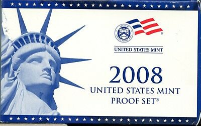 Uncirculated 2008 S United States Mint Proof Coin Set w/CoA EB403