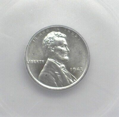 1943 Lincoln Steel Wheat Cent Icg Ms66+
