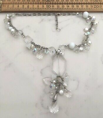Good Modern Necklace With Cut Glass Beads And Freshwater Pearl Beads