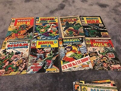 The Mighty World of Marvel Starring The Incredible Hulk 33 Issues + 3 Marvel Com