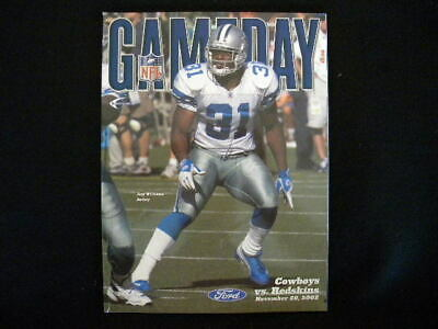 Vintage 2002 Dallas Cowboys vs. Washington Redskins Game Program (Roy Williams)
