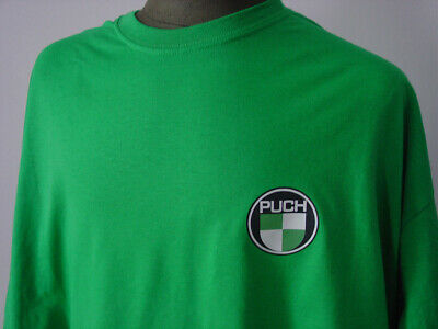 PUCH ★ Heavy T-Shirt  NEU * Motorrad Oldtimer * kelly green * Moped * Motorcycle