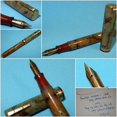 Vintage Waterman Lady Patrician Fountain Pen Only 14K Extra Fine Nib Restored