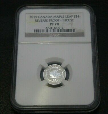 2015 Canada Maple Leaf $1 Reverse Proof 1/20 Fine Silver  NGC PF-70