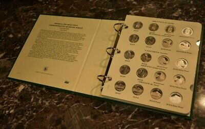 America the Beautiful Quarters Album w/ Silver Proofs 2010-2015 ATB 25C Coins